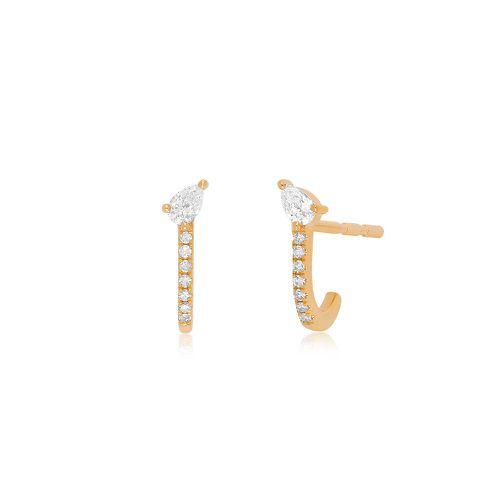Diamond Pear-fect Huggie Earring ($825)