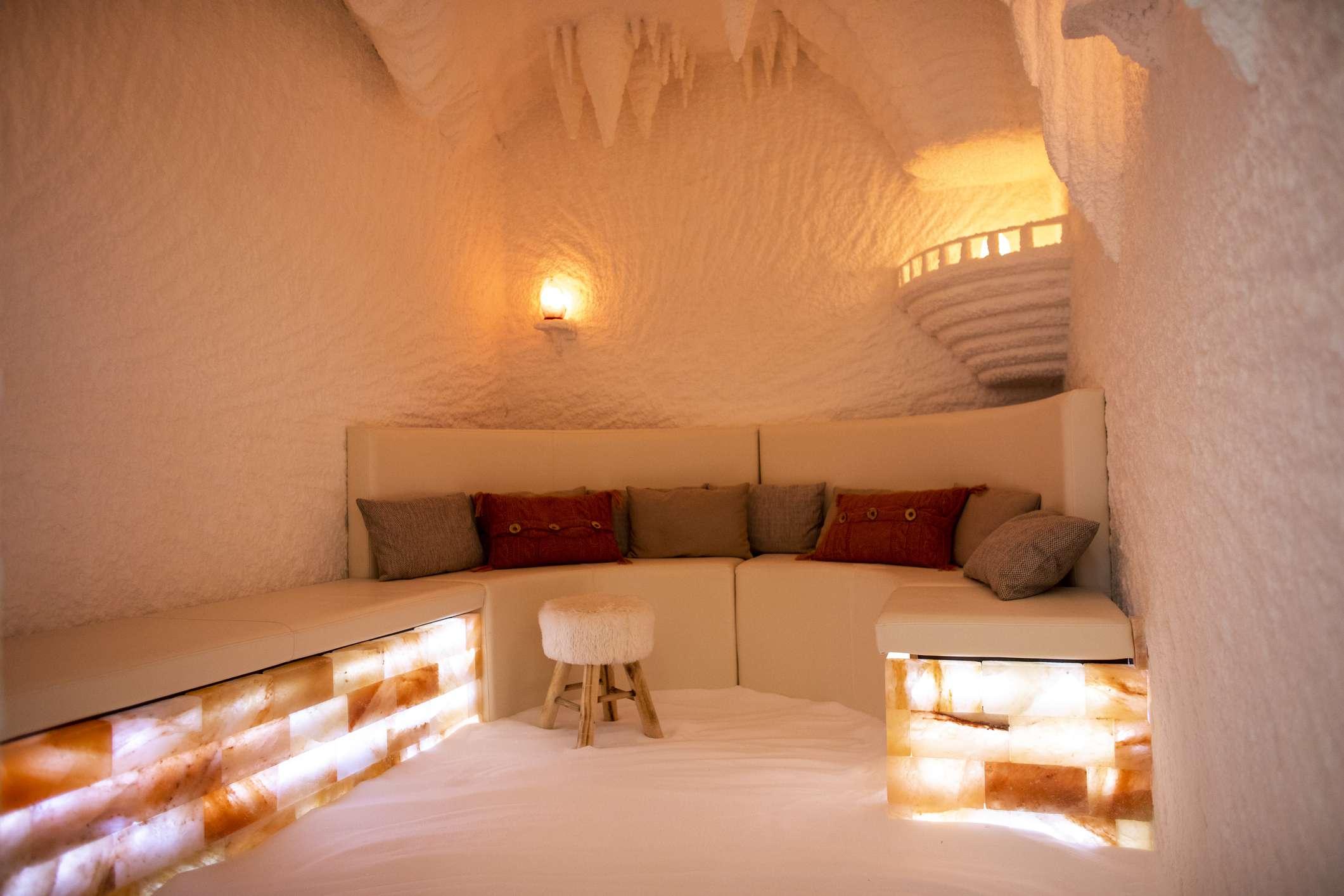 salt cave at a spa