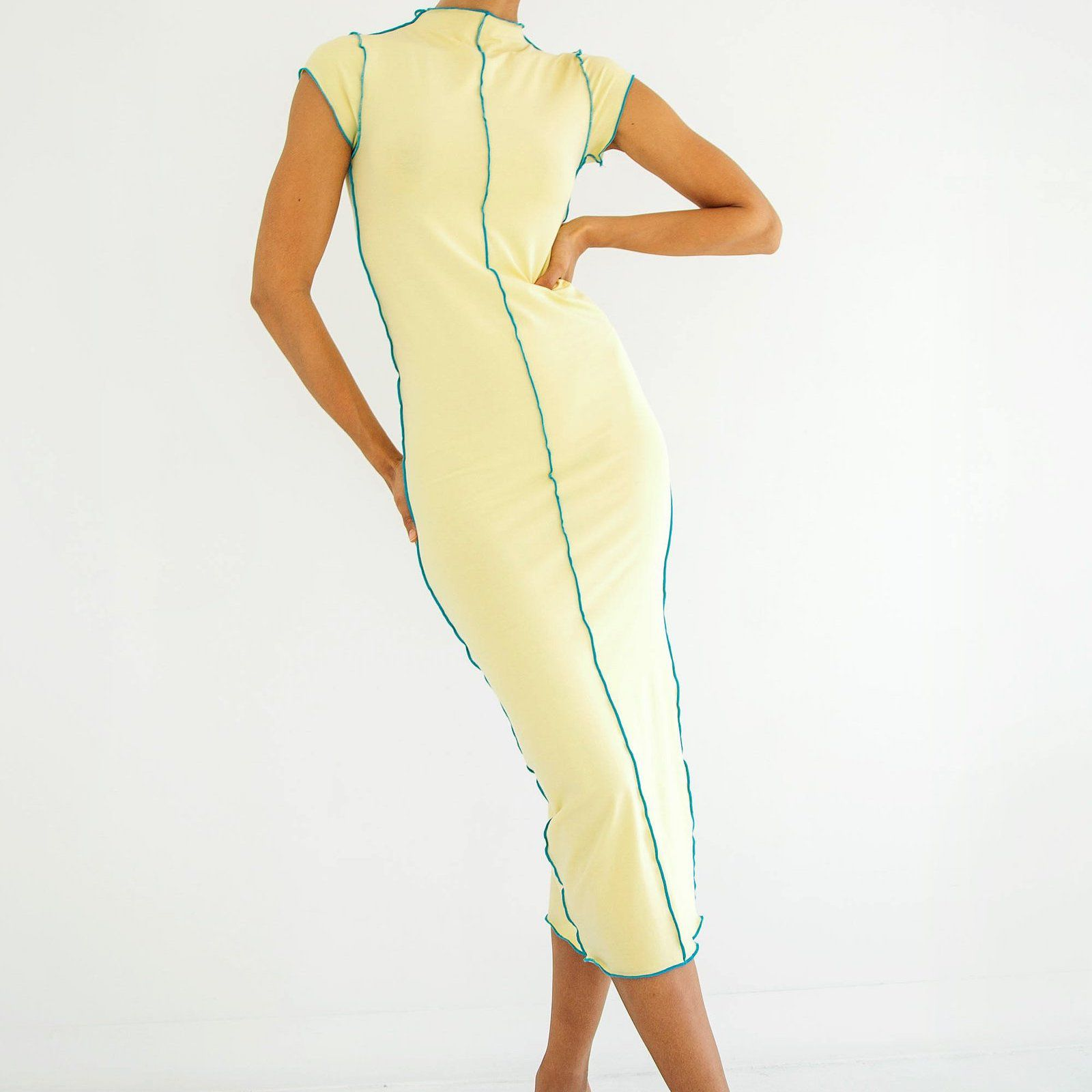 The Line by K Scout Dress Faded Yellow