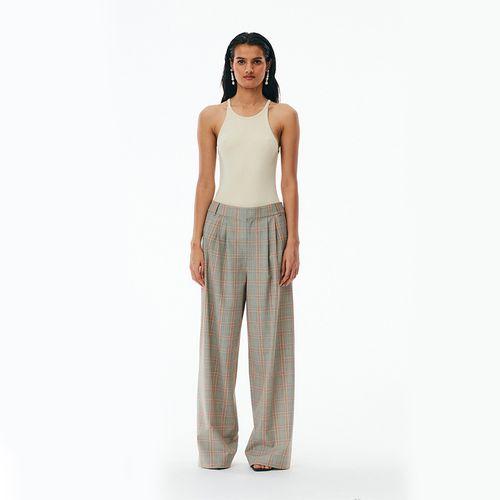 Nova Plaid Stella Pleated Pant ($595)