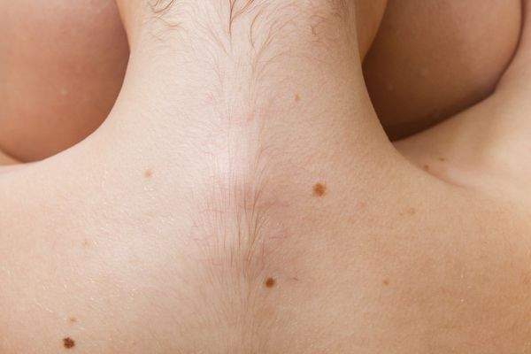 Back of a woman's neck