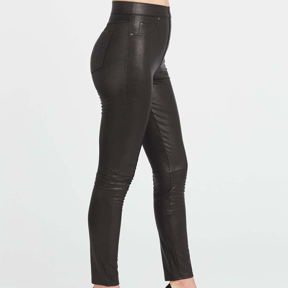 Leather-Like Ankle Skinny Pant