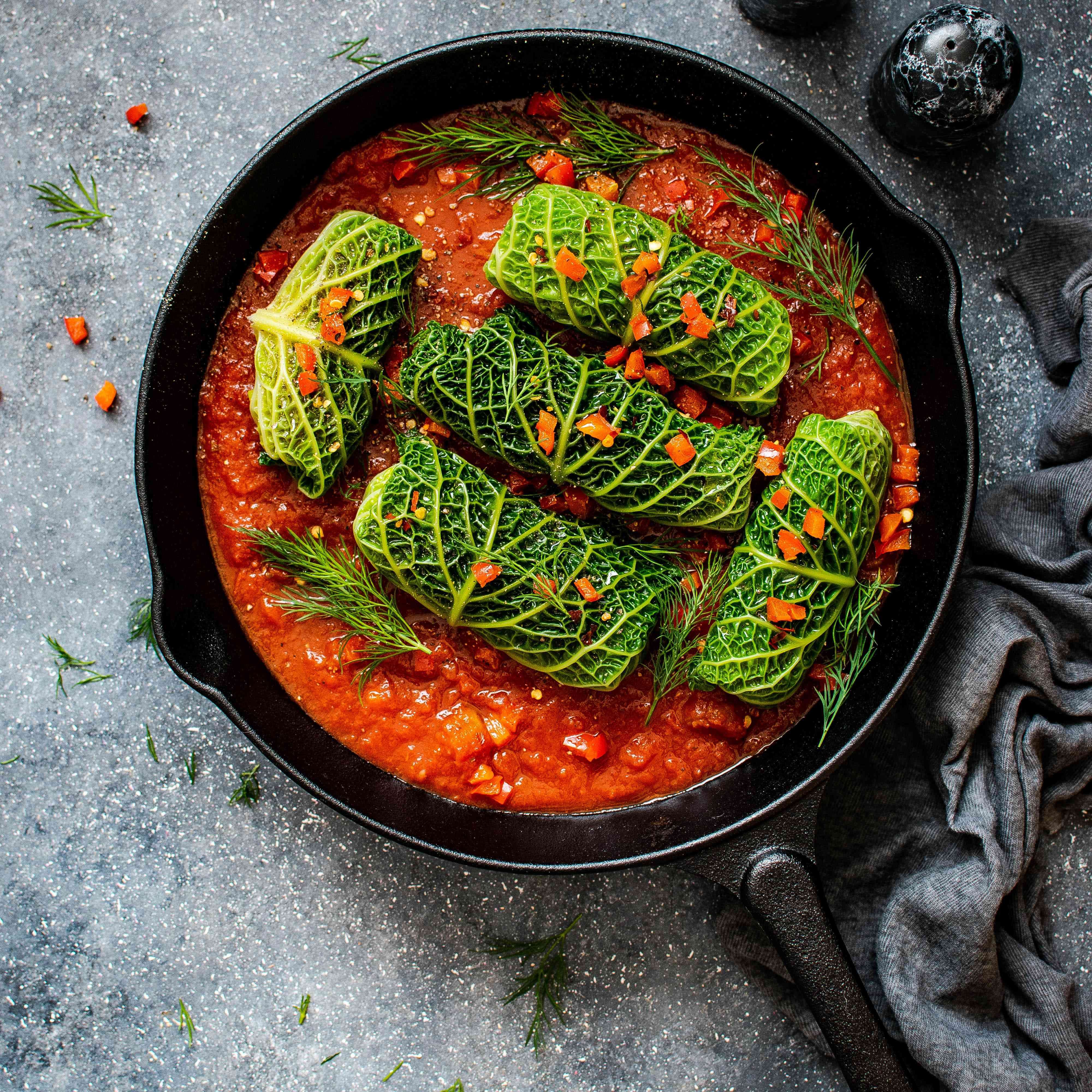 vegetable dish in a pan