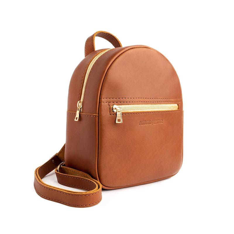 Portland Leather Backpack Purse in Honey