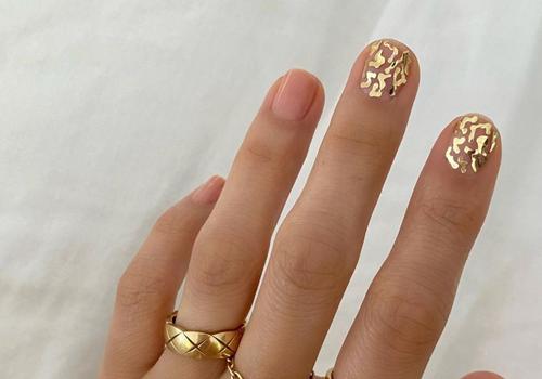 betina goldstein gold crack nails