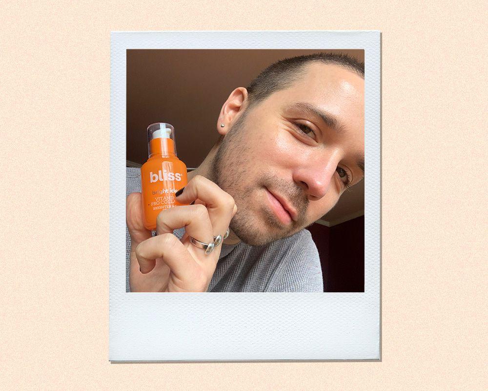 Bliss Bright Idea Vitamin C Serum Results on Tynan Sinks