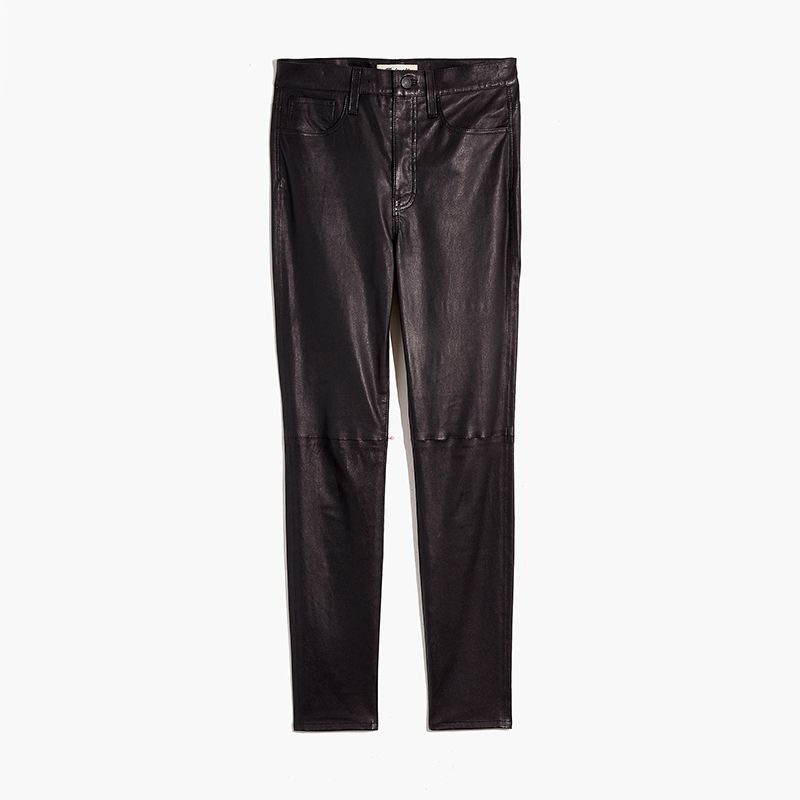 High-Rise Skinny Jeans: Leather Edition
