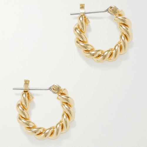 Laura Lombardi Gold-Plated Hoop Earrings