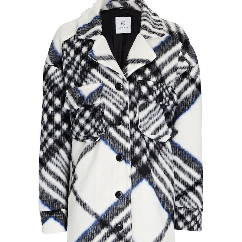 Anine Bing Oakley Tartan Jacket