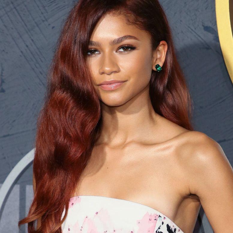 Zendaya with reddish-brown hair