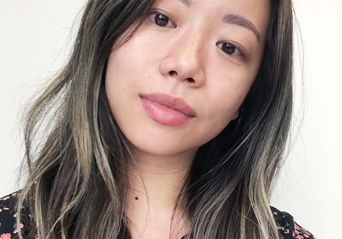 woman with ombre hair and no makeup