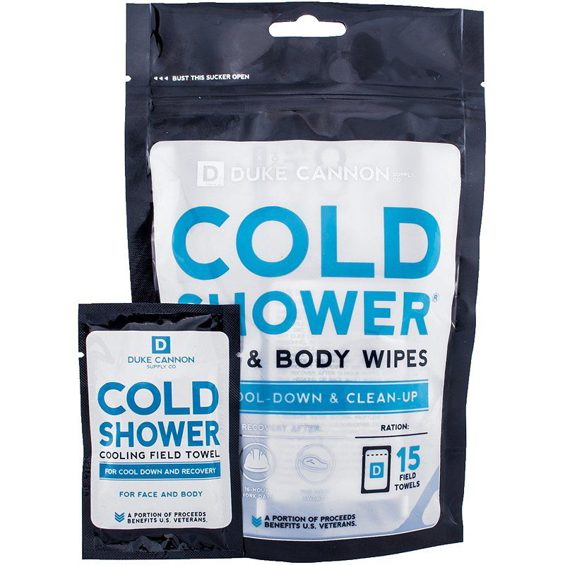 Duke Cannon Supply Co Cold Shower Cooling Field Towel Face & Body Wipes