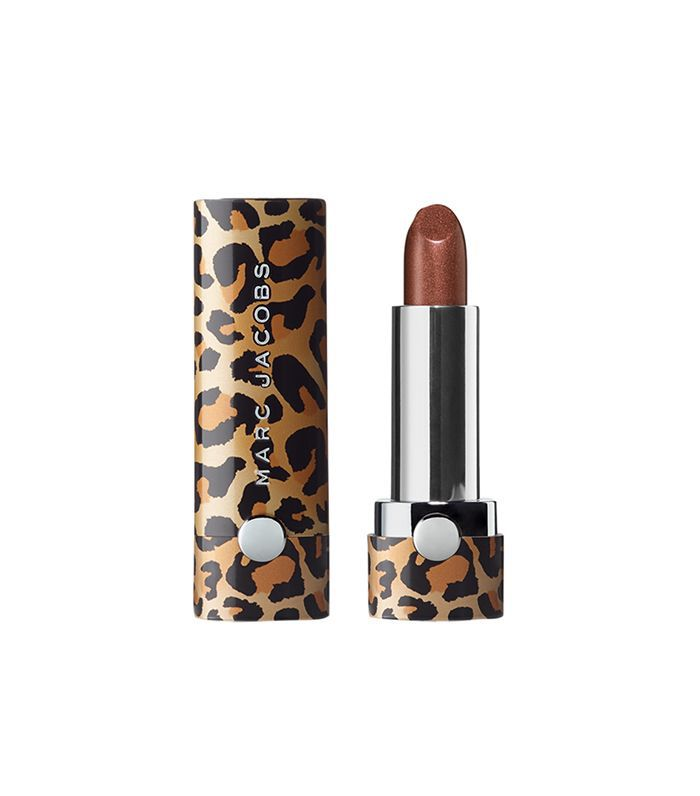 Marc Jacobs Le Marc Leopard Frost Lip Crème Lipstick in Cher-ished