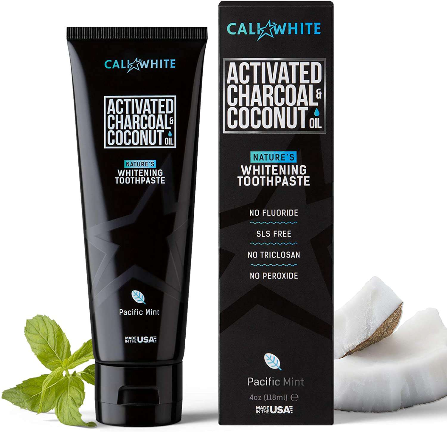 Cali White Activated Charcoal & Organic Coconut Oil Toothpaste