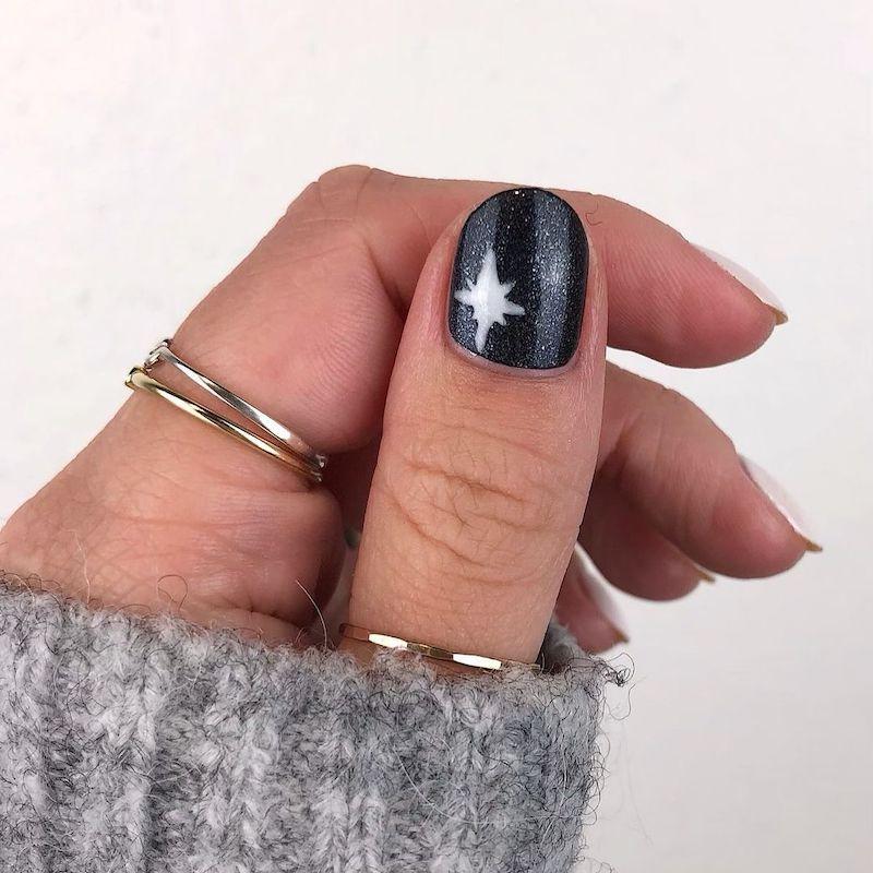 Simple Nail Designs Celestial