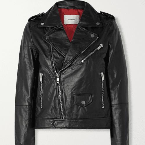 Deadwood River Leather Biker Jacket