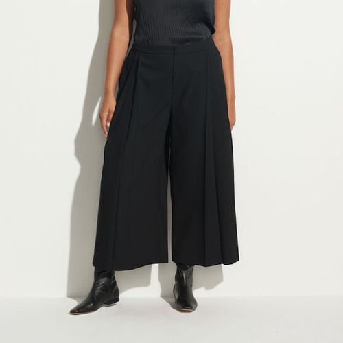 Vince High Waisted Pleat Front Culotte