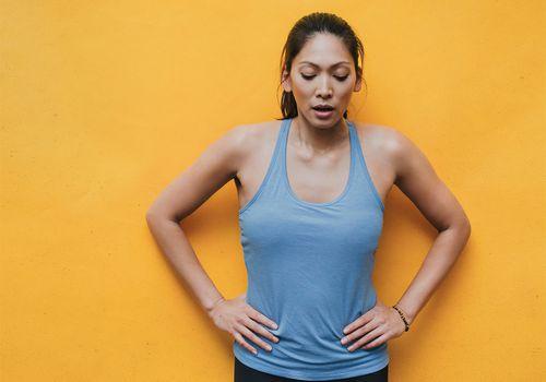 femme after workout