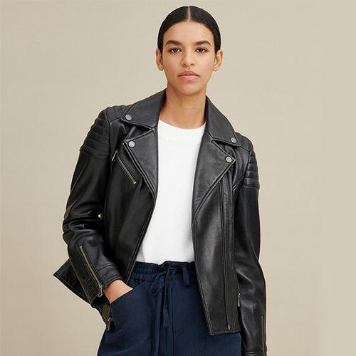Leather Moto Jacket ($245)
