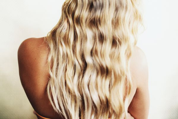 woman with loose curls