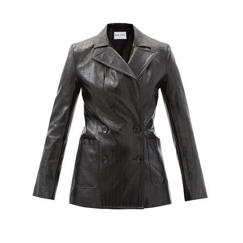Emerina Faux-Leather Blazer ($378)