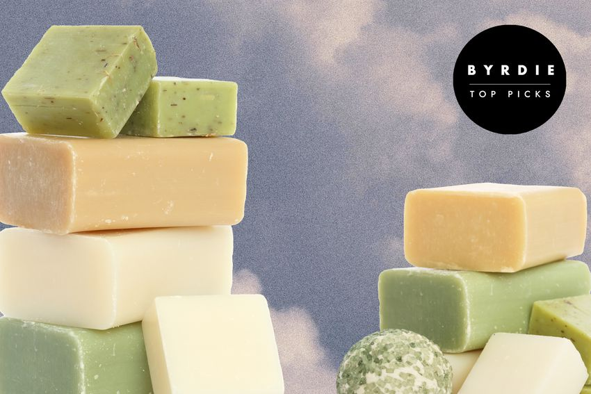 Photo composite of bars of soap