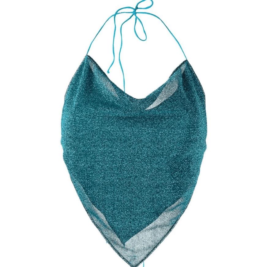 Oséree Lurex Halterneck Bikini Set