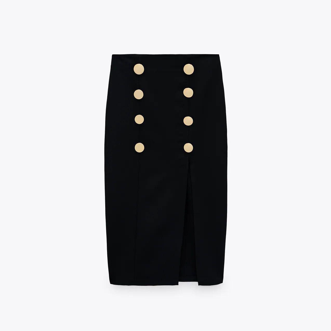 Zara Buttoned Pencil Skirt