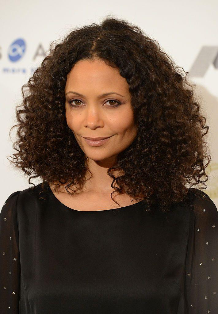 Thandie Newton natural curly lob