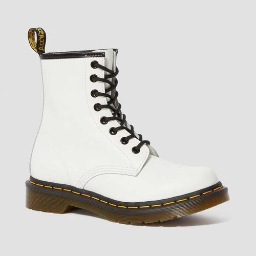 Dr. Martens Smooth Leather Lace Up Boots in White