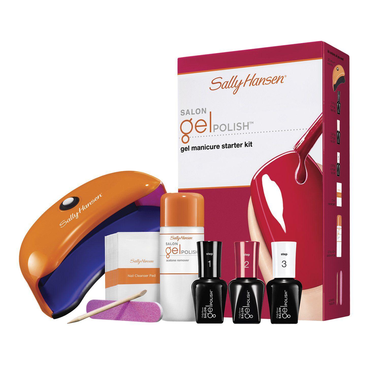 sally hansen salon pro gel nail starter kit