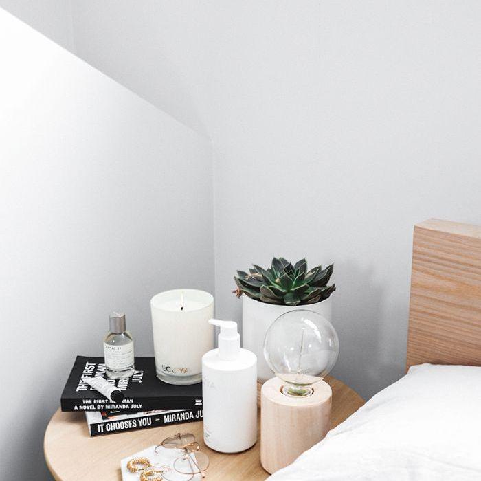 Ecoya Candle on Byrdie Bedside by Ally May Hayward