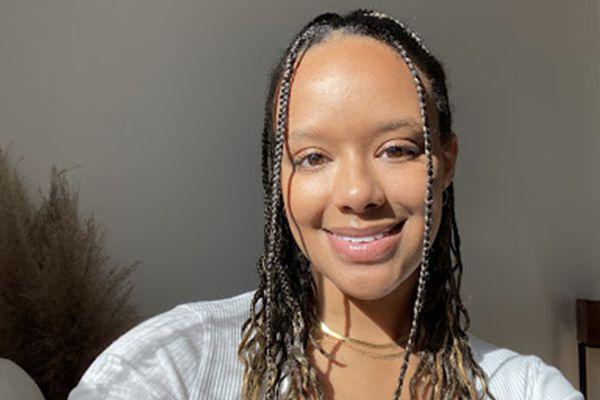 woman with makeup primer