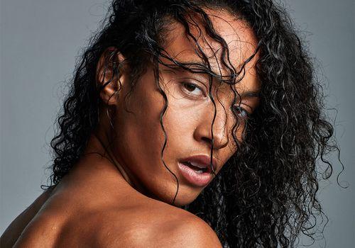 wet hair portrait