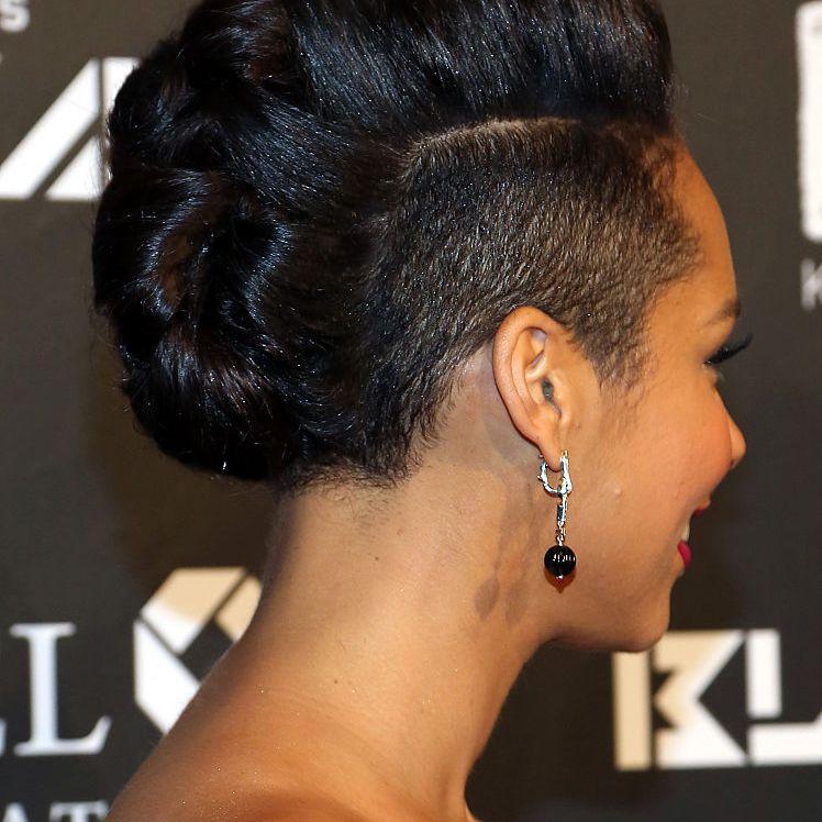 Alicia Keys undercut fauxhawk