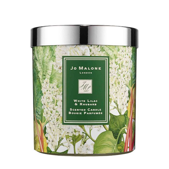 best summer scented candles: Jo Malone White Lilac and Rhubarb Charity Home Candle