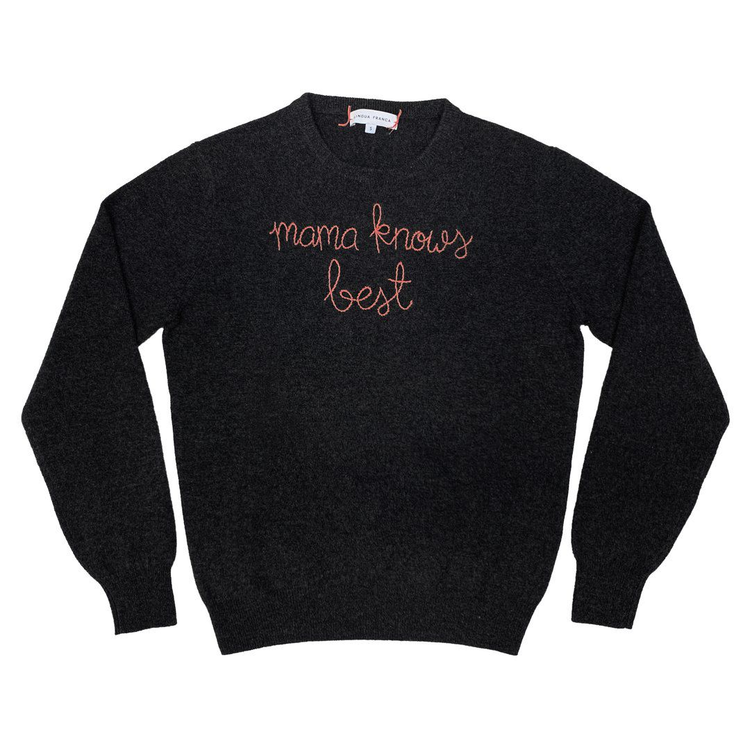 lingua franca mama knows best sweater