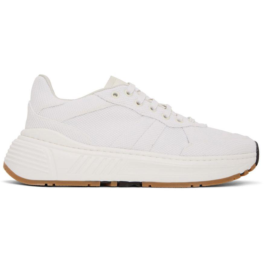 Bottega Veneta White Mesh Speedster Sneakers