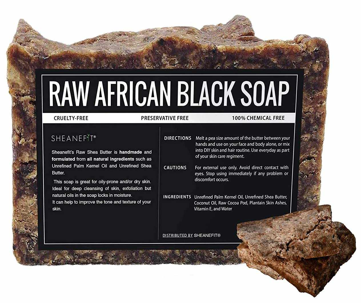 Sheanefit Raw African Black Soap