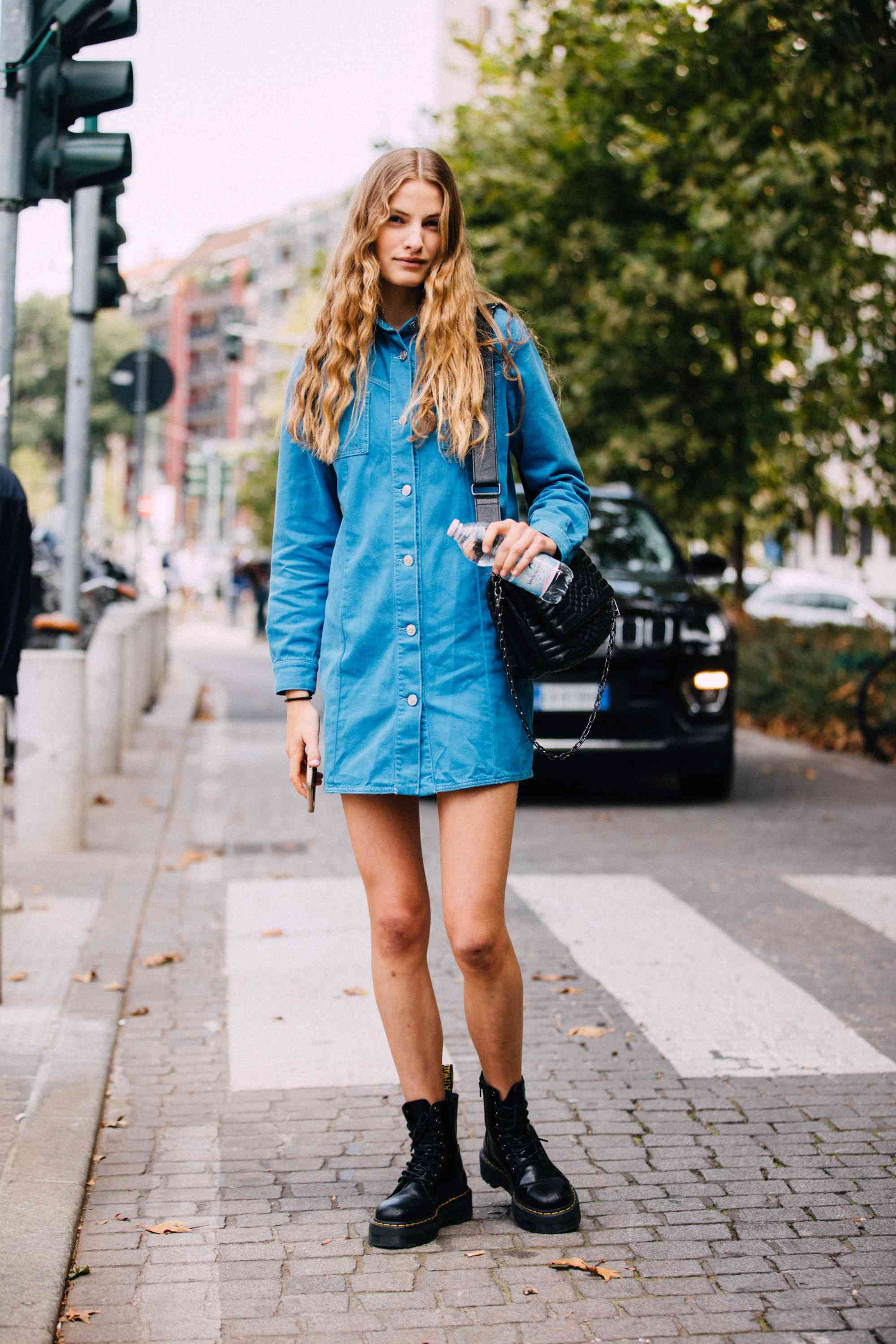Dr. Martens Outfits Denim Street Style