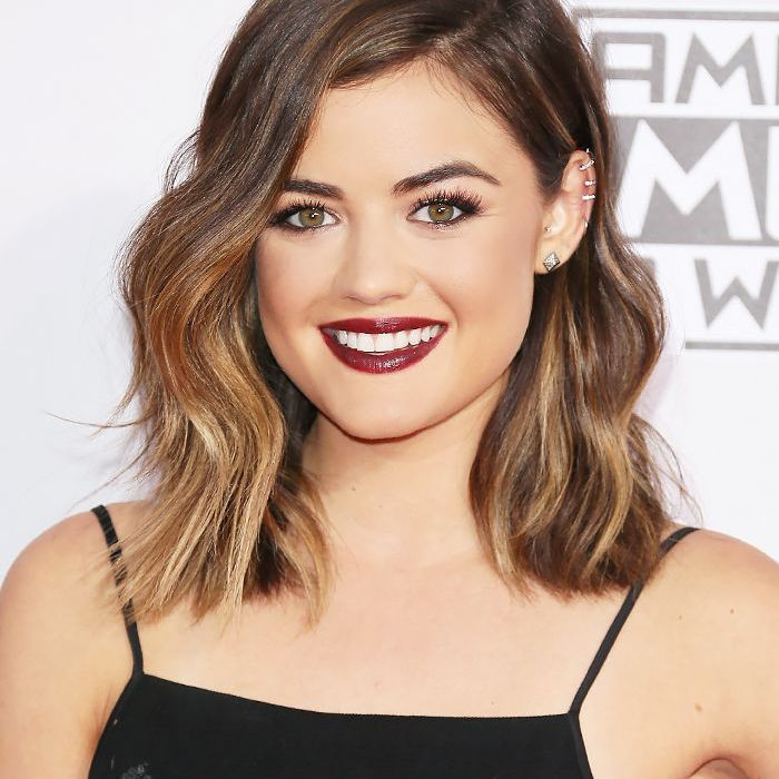 Lucy Hale With an Angled Lob