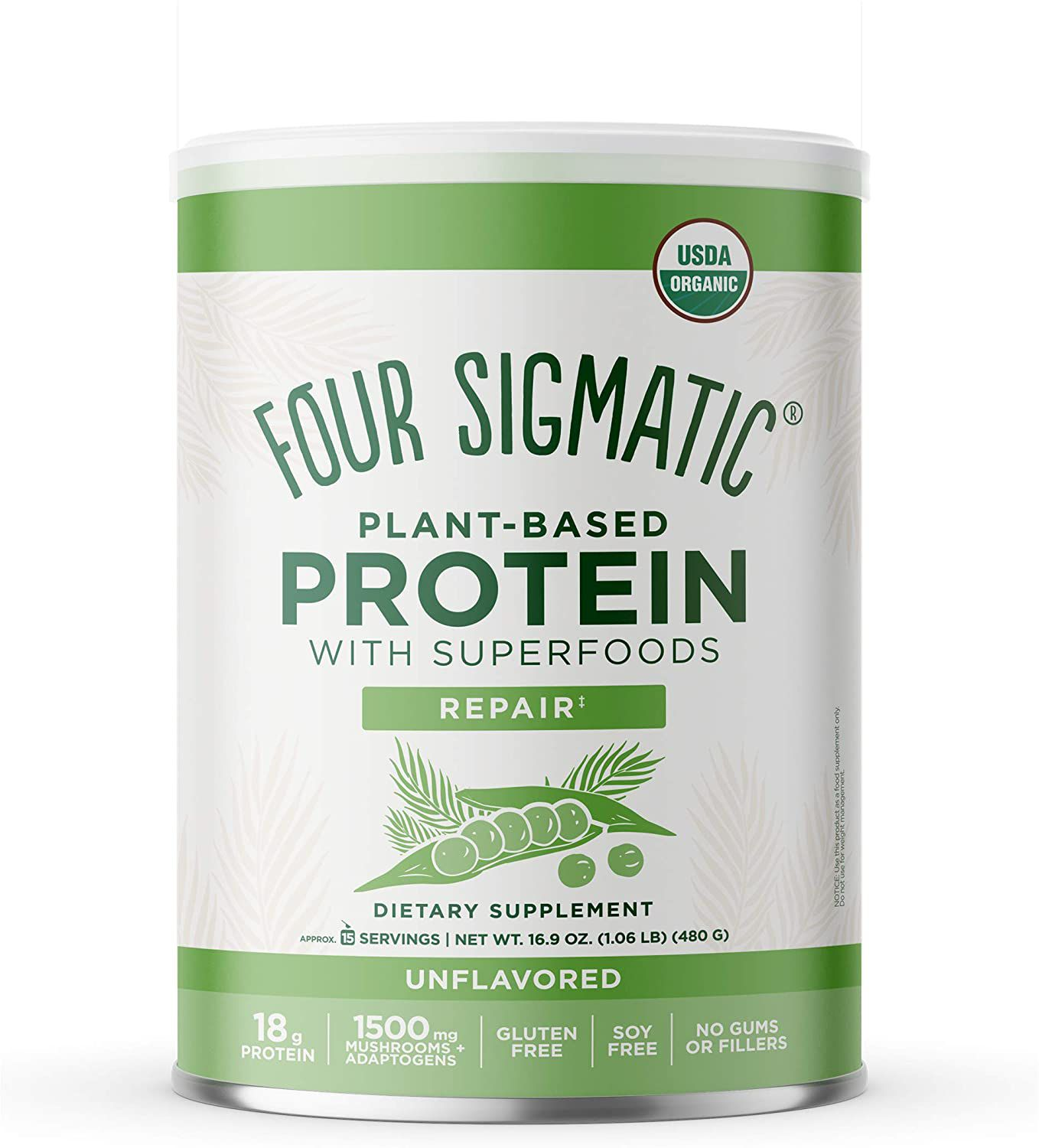 Four Sigmatic Plant-Based Protein Can Unflavored