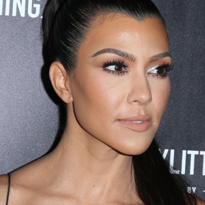 Kourtney Kardashian Slicked-Back Ponytail