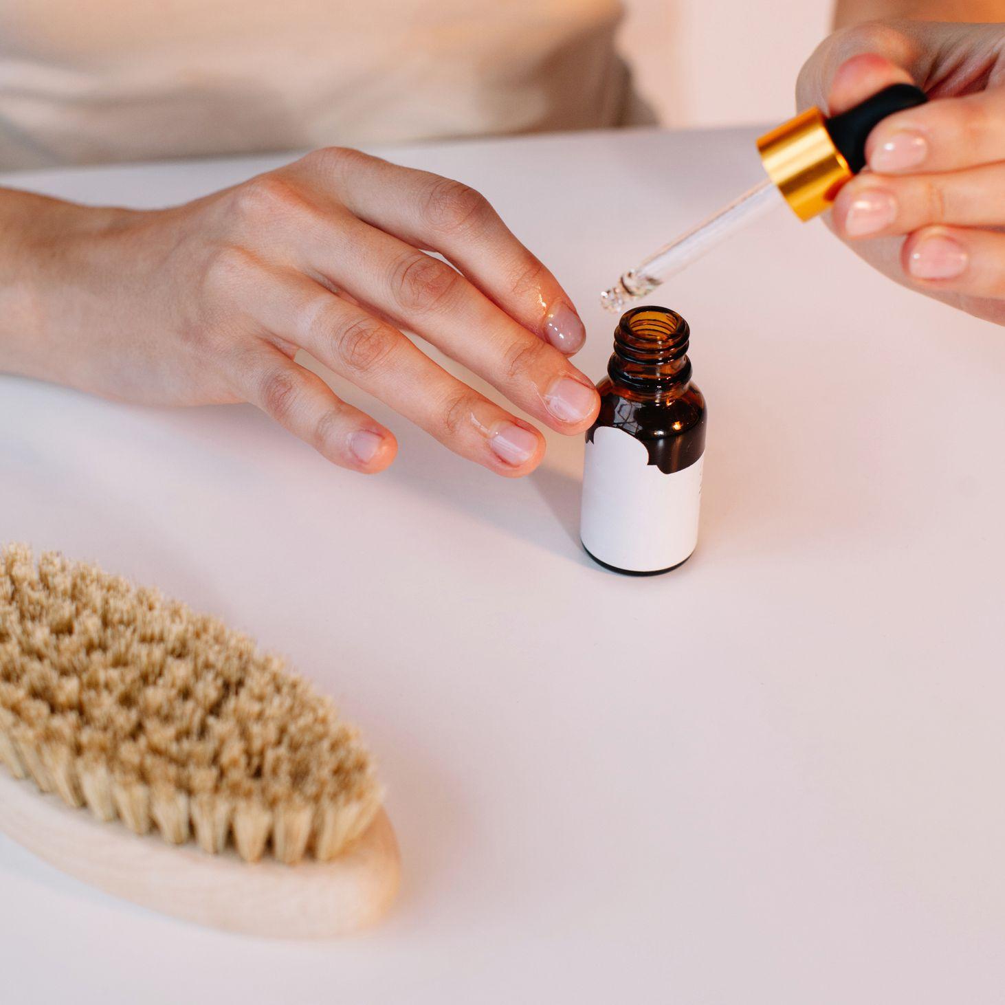 applying cuticle oil
