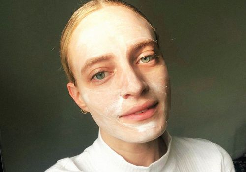 hallie gould with green face mask