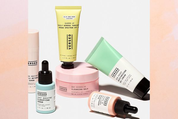 An assortment of Versed Skincare products.