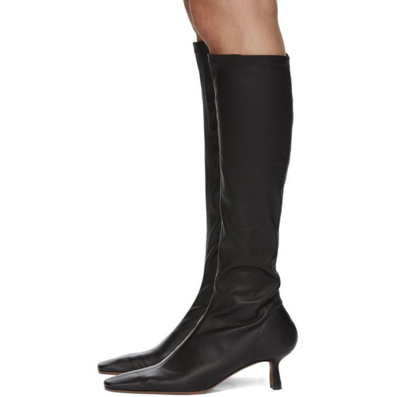 Cynis Leather Knee Boots