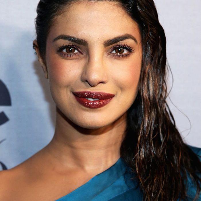 Priyanka Chopra slicked back hair