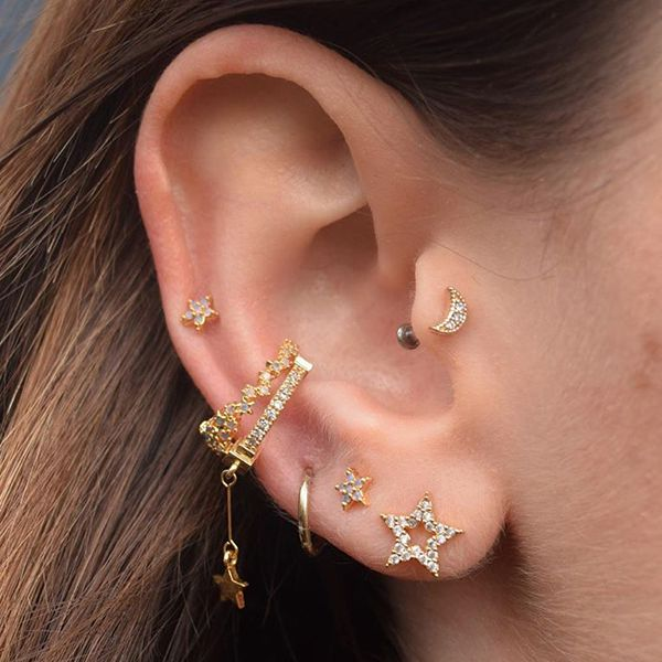 Constellation Piercings Are Inspired by the Night Sky, and We Can't Look Away