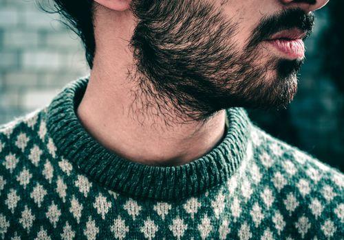 Close-up of man with beard